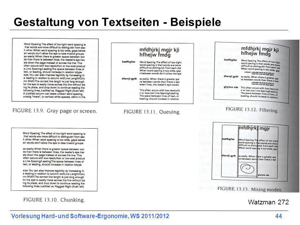 Gestaltung von Textseiten - Beispiele