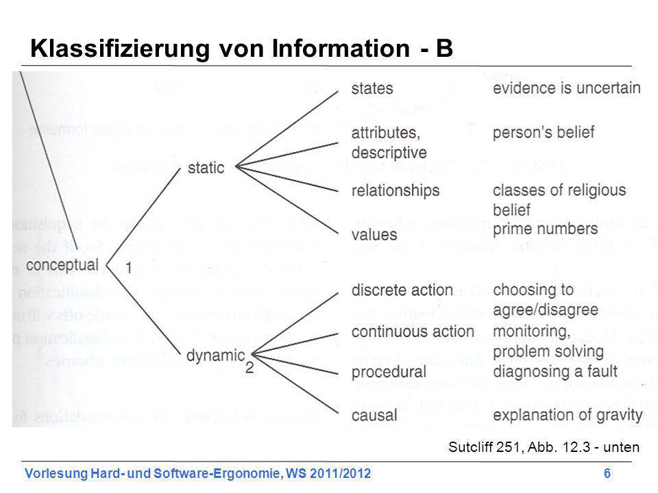 Klassifizierung von Information - B