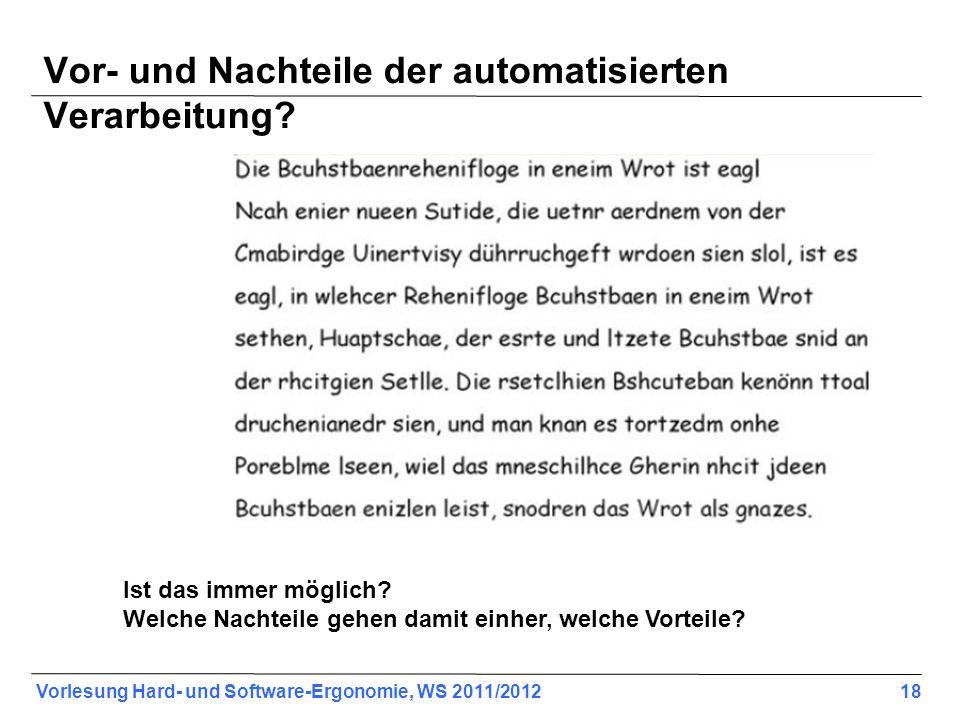 Vor- und Nachteile der automatisierten Verarbeitung