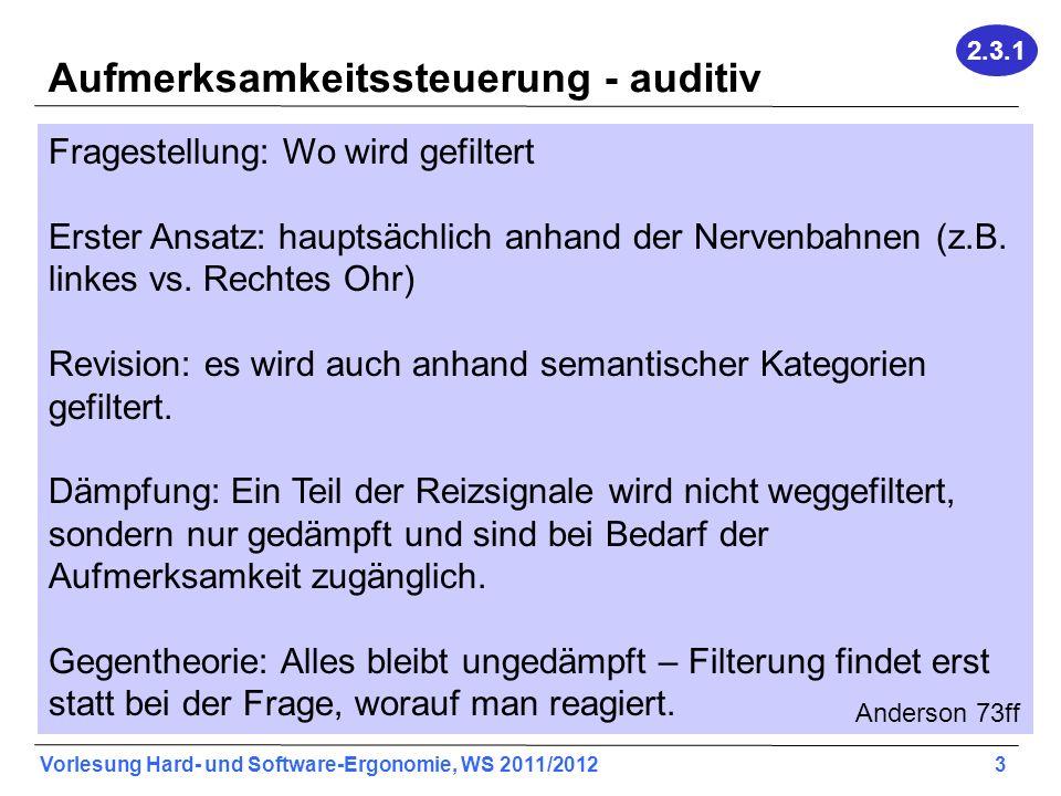 Aufmerksamkeitssteuerung - auditiv
