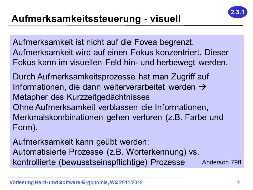 Aufmerksamkeitssteuerung - visuell