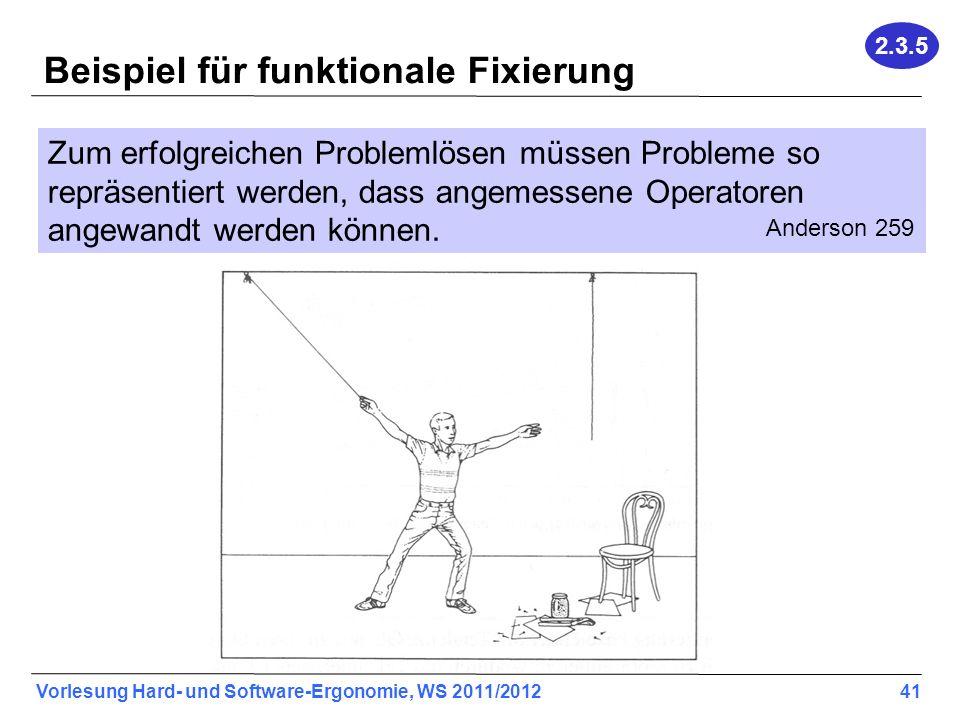 Beispiel für funktionale Fixierung