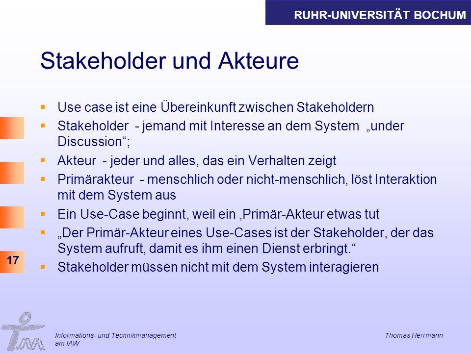 Stakeholder und Akteure