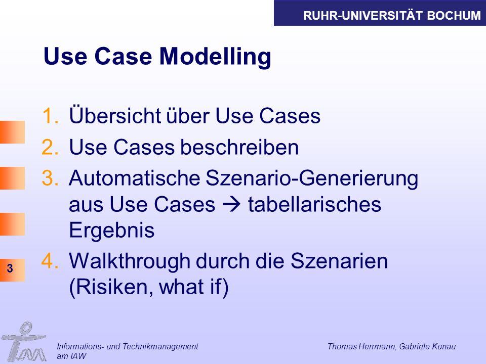 Use Case Modelling Übersicht über Use Cases Use Cases beschreiben