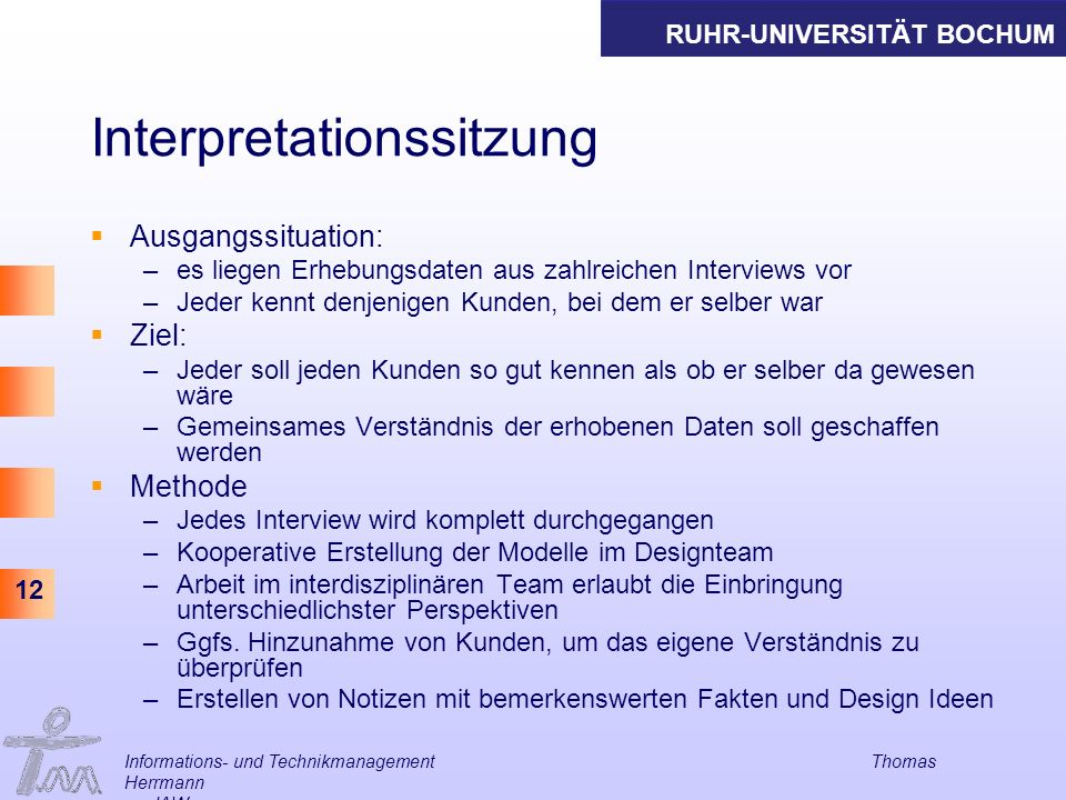 Interpretationssitzung