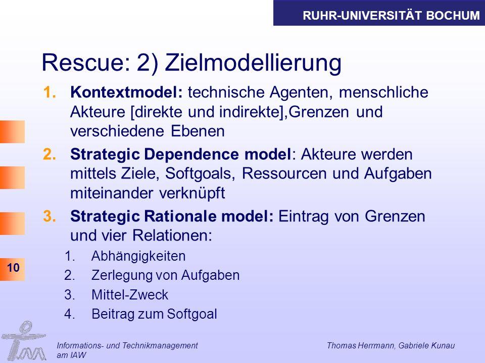 Rescue: 2) Zielmodellierung