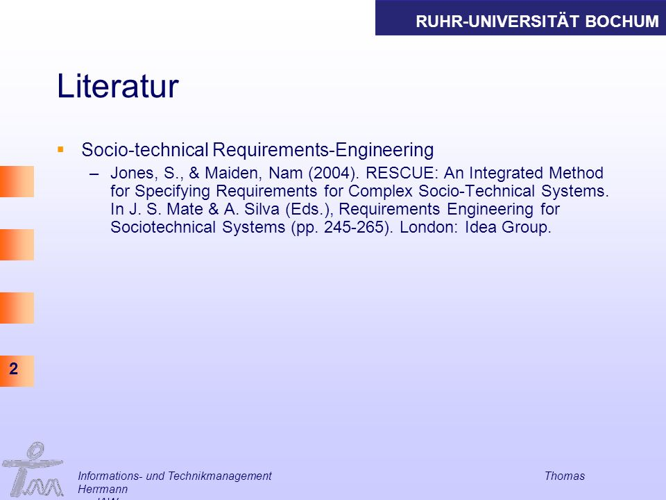 Literatur Socio-technical Requirements-Engineering