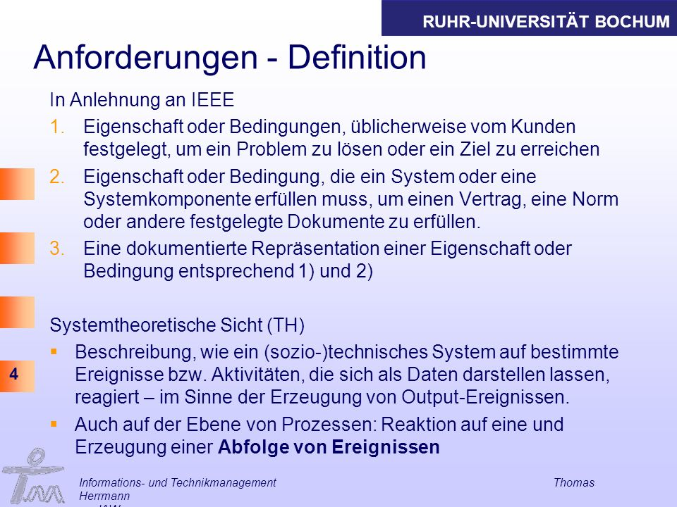 Anforderungen - Definition
