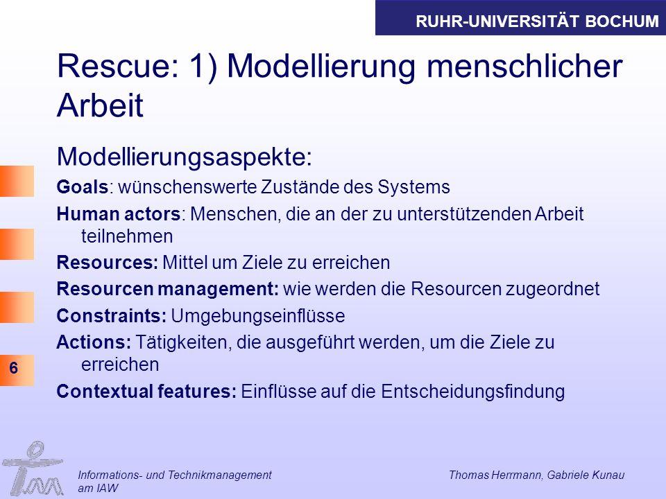 Rescue: 1) Modellierung menschlicher Arbeit