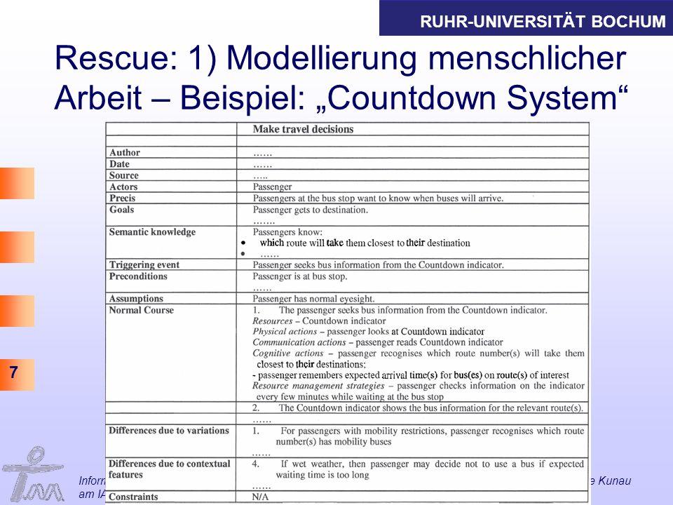 """Rescue: 1) Modellierung menschlicher Arbeit – Beispiel: """"Countdown System"""