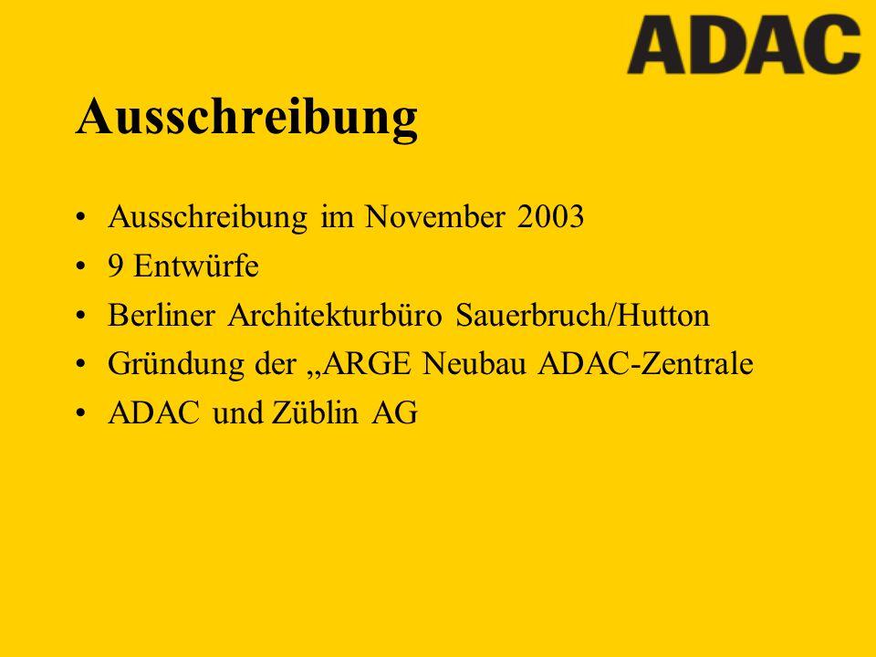 Ausschreibung Ausschreibung im November 2003 9 Entwürfe