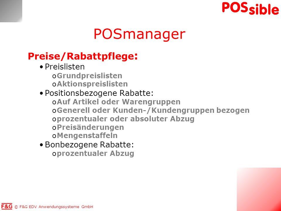 POSmanager Preise/Rabattpflege: Preislisten Positionsbezogene Rabatte: