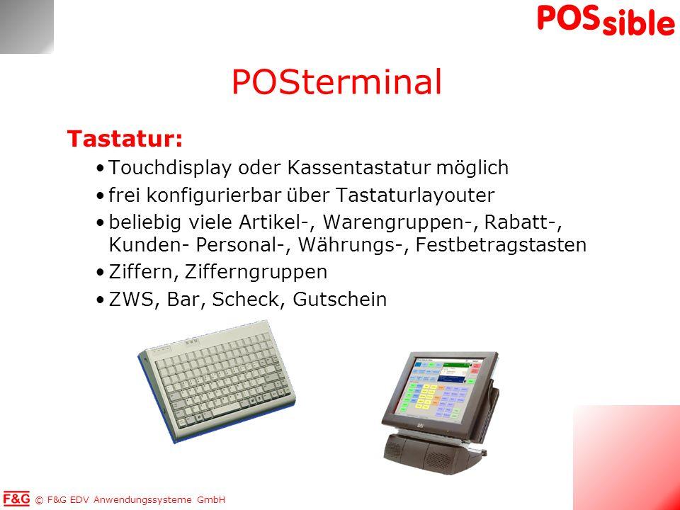 POSterminal Tastatur: Touchdisplay oder Kassentastatur möglich