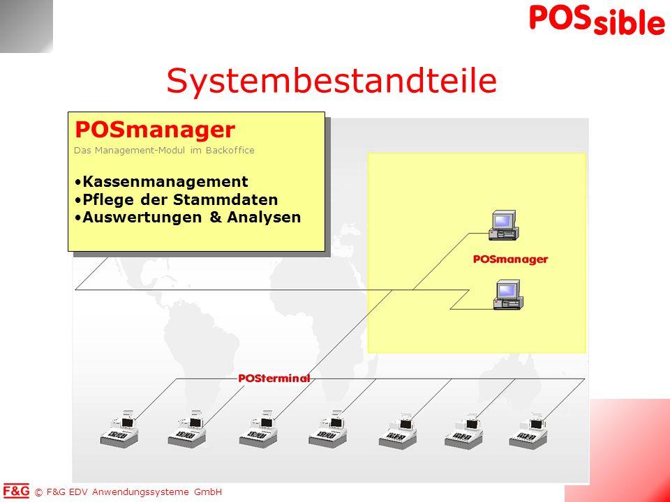 Systembestandteile POSmanager Kassenmanagement Pflege der Stammdaten