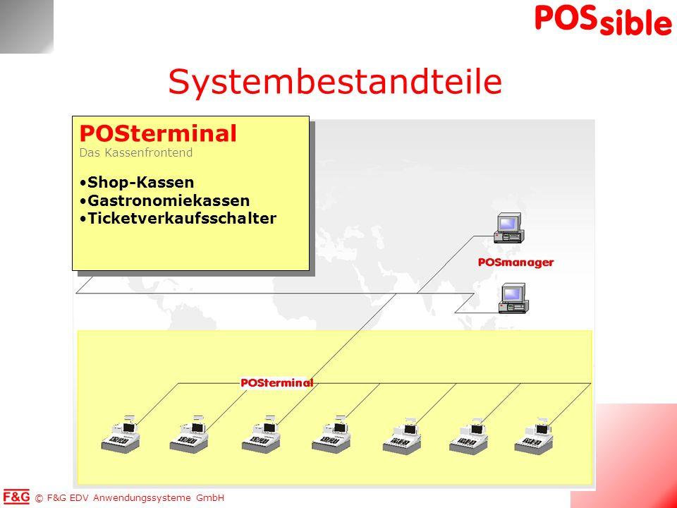 Systembestandteile POSterminal Shop-Kassen Gastronomiekassen