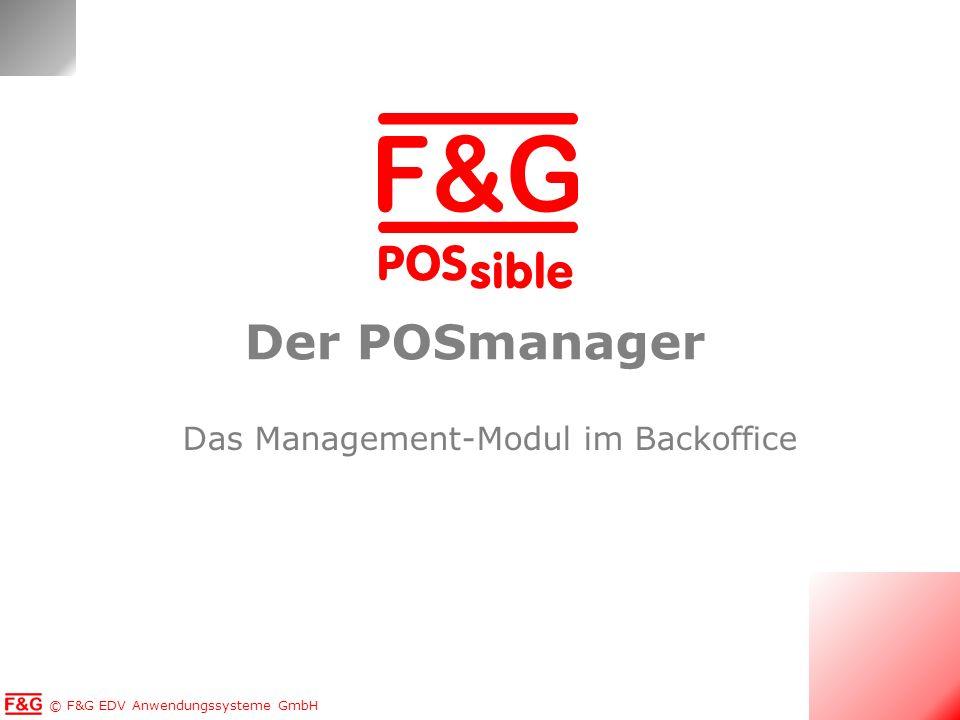 Das Management-Modul im Backoffice