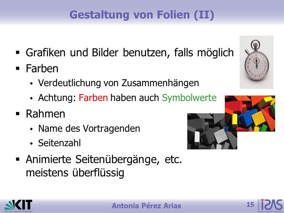 Gestaltung von Folien (II)