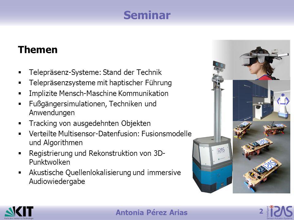 Seminar Themen Telepräsenz-Systeme: Stand der Technik
