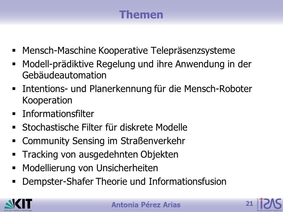 Themen Mensch-Maschine Kooperative Telepräsenzsysteme