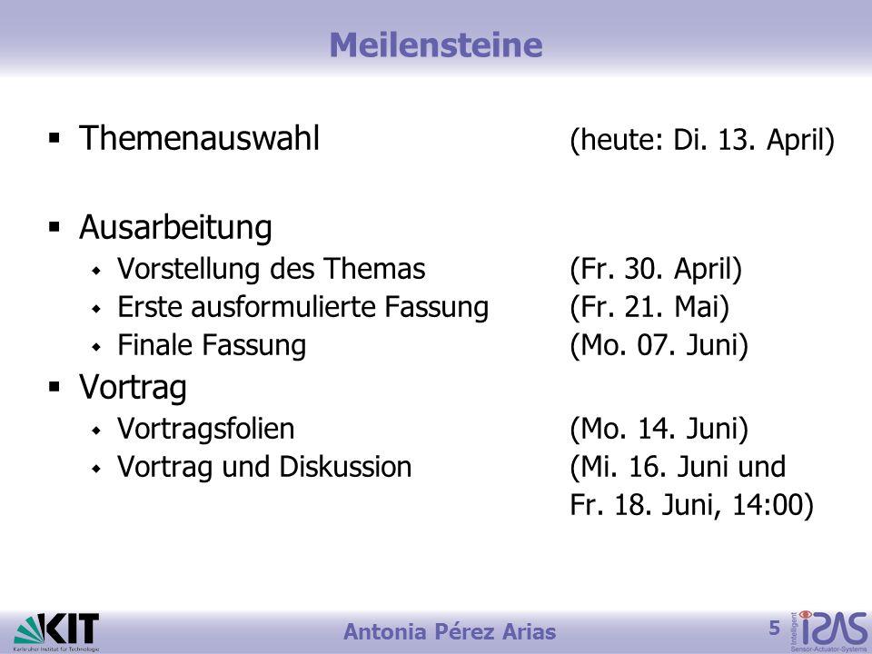 Themenauswahl (heute: Di. 13. April) Ausarbeitung
