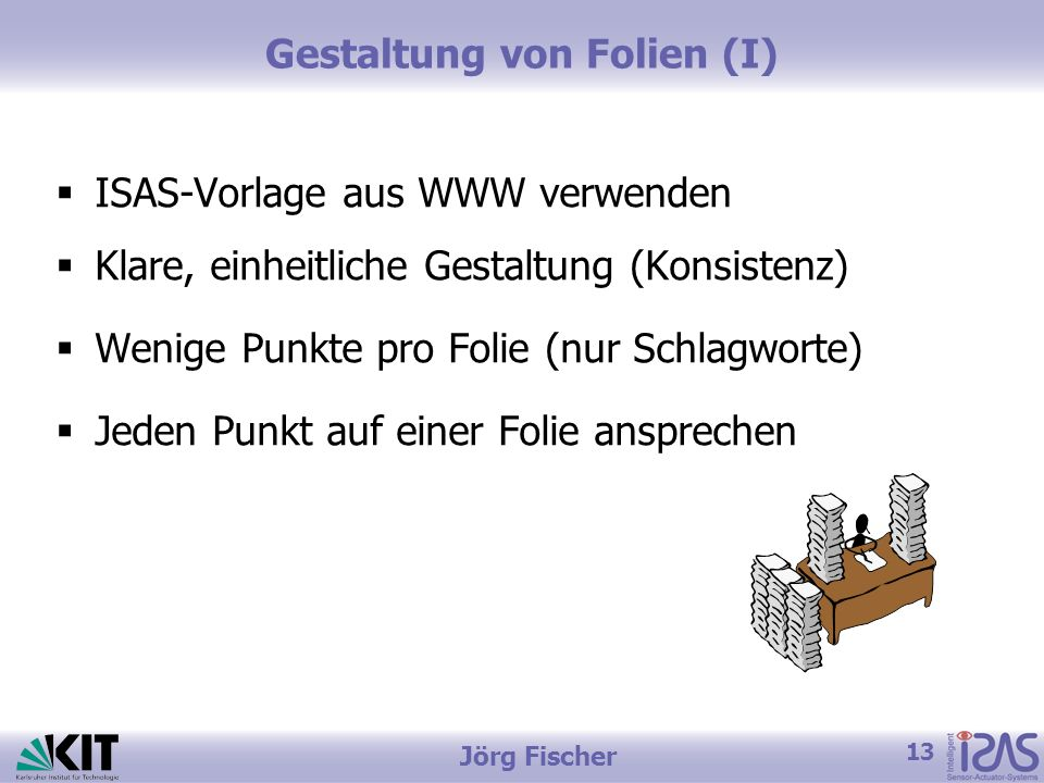 Gestaltung von Folien (I)