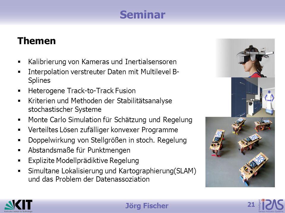 Seminar Themen Kalibrierung von Kameras und Inertialsensoren