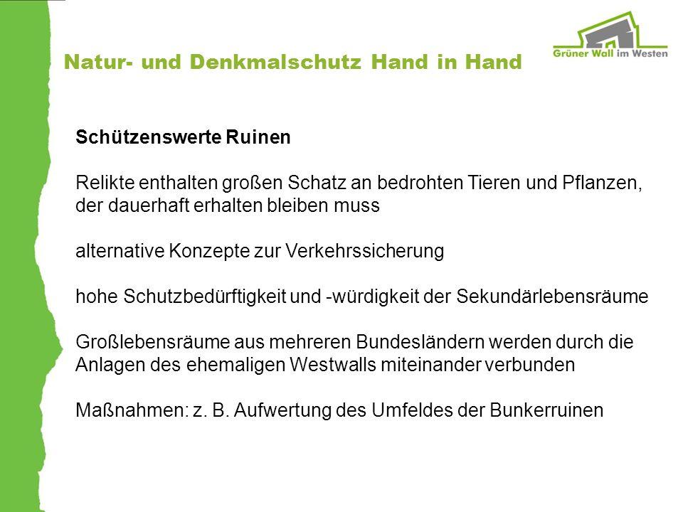 Natur- und Denkmalschutz Hand in Hand