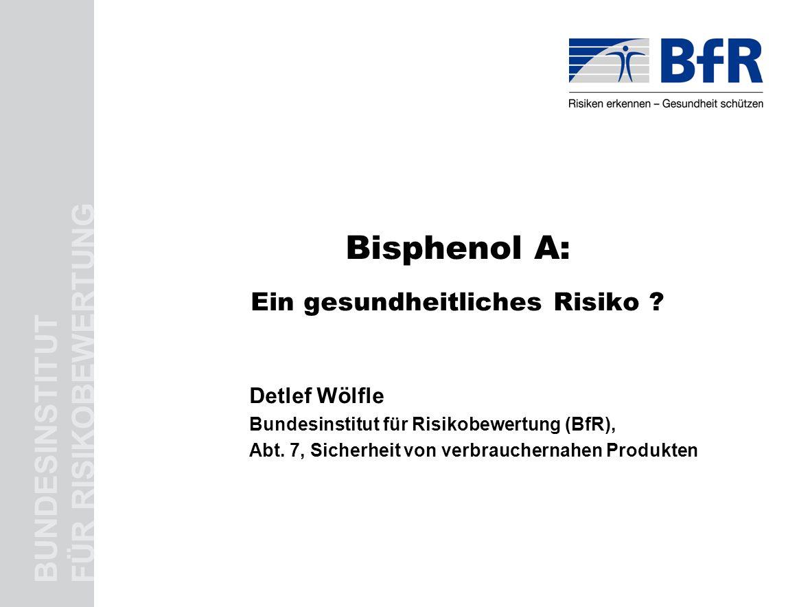 Bisphenol A: Ein gesundheitliches Risiko