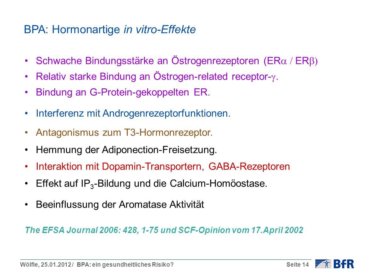 BPA: Hormonartige in vitro-Effekte
