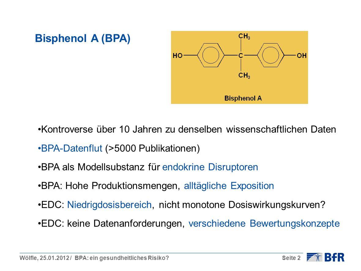 Bisphenol A (BPA) Kontroverse über 10 Jahren zu denselben wissenschaftlichen Daten. BPA-Datenflut (>5000 Publikationen)