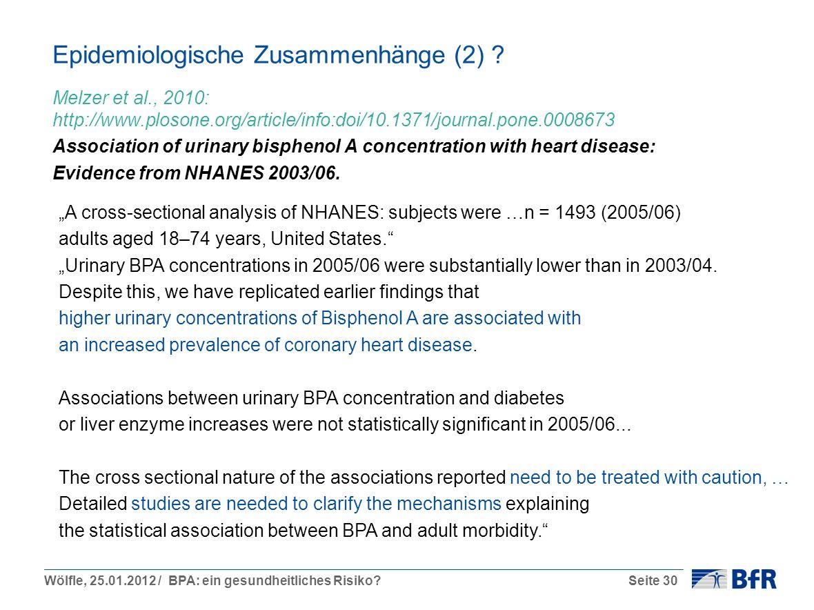 Epidemiologische Zusammenhänge (2)