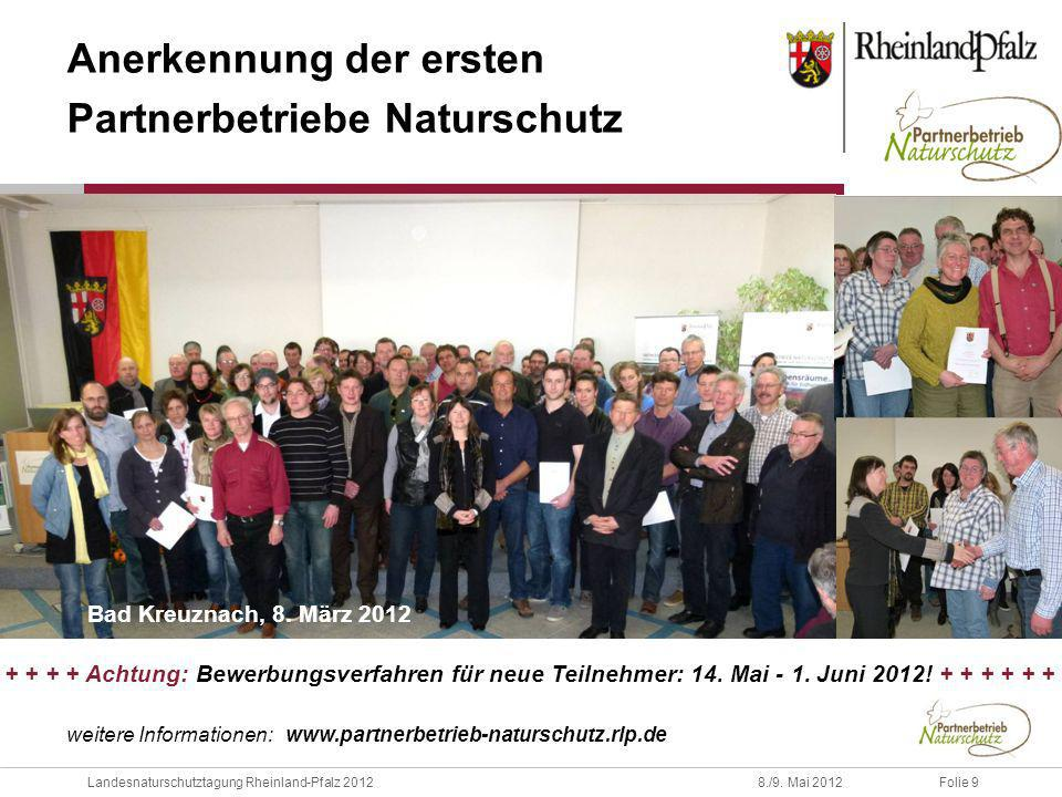 Anerkennung der ersten Partnerbetriebe Naturschutz