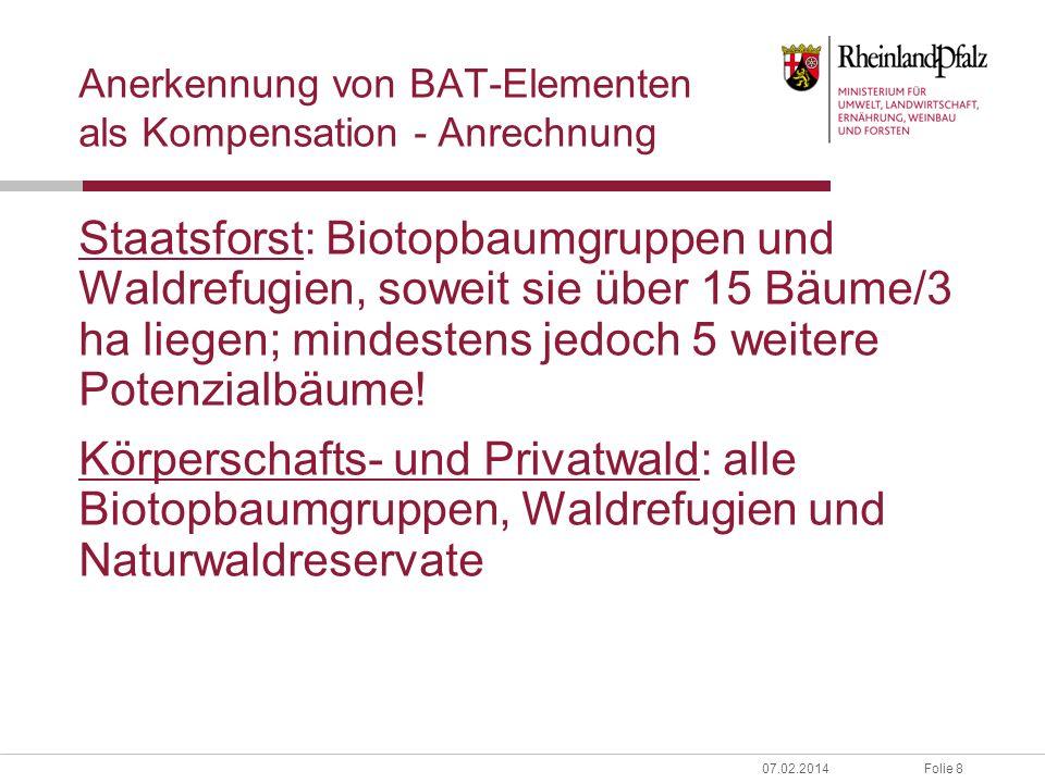 Anerkennung von BAT-Elementen als Kompensation - Anrechnung