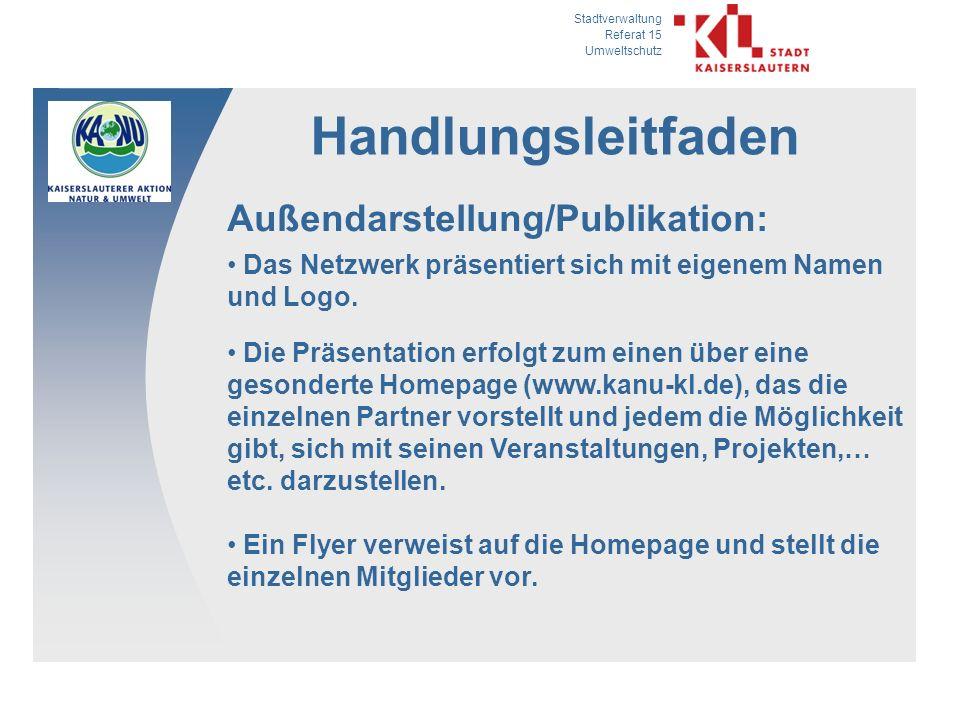 Handlungsleitfaden Außendarstellung/Publikation: