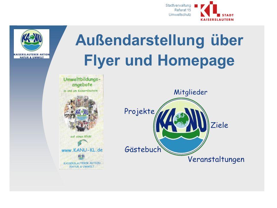 Außendarstellung über Flyer und Homepage