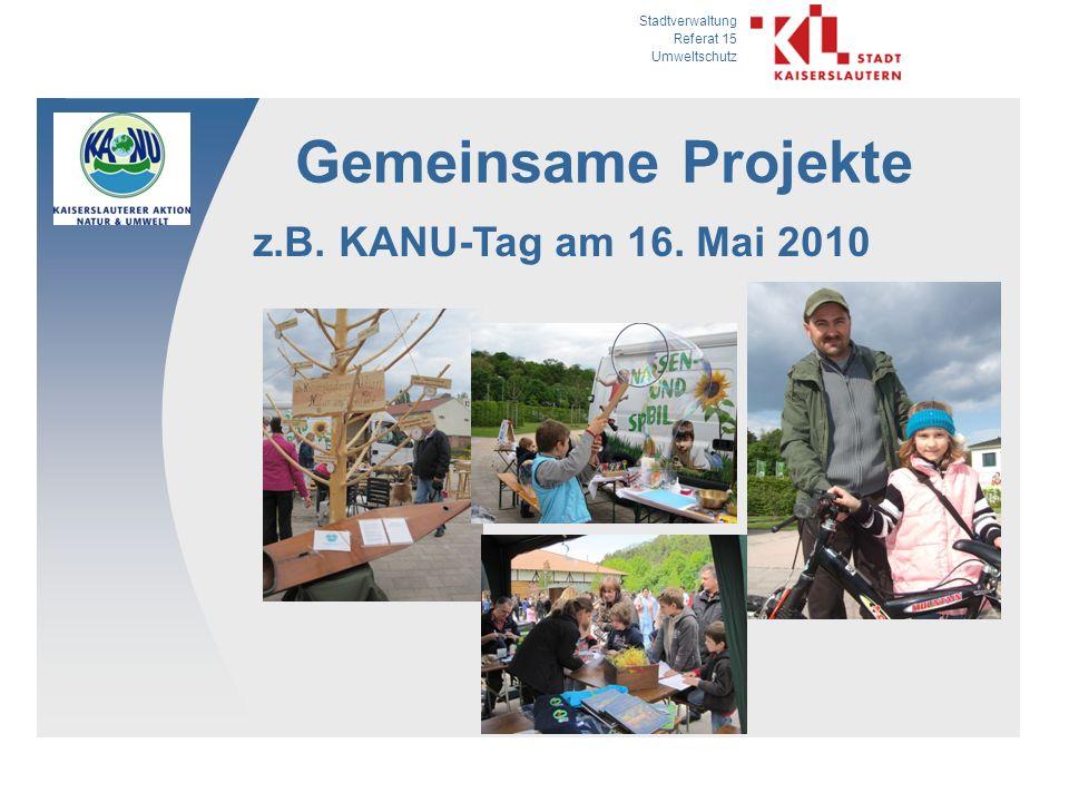 Gemeinsame Projekte z.B. KANU-Tag am 16. Mai 2010