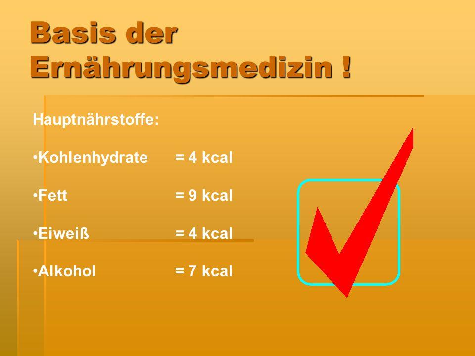 Basis der Ernährungsmedizin !