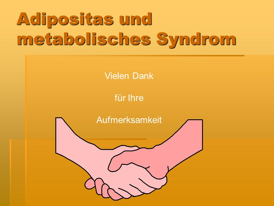Adipositas und metabolisches Syndrom