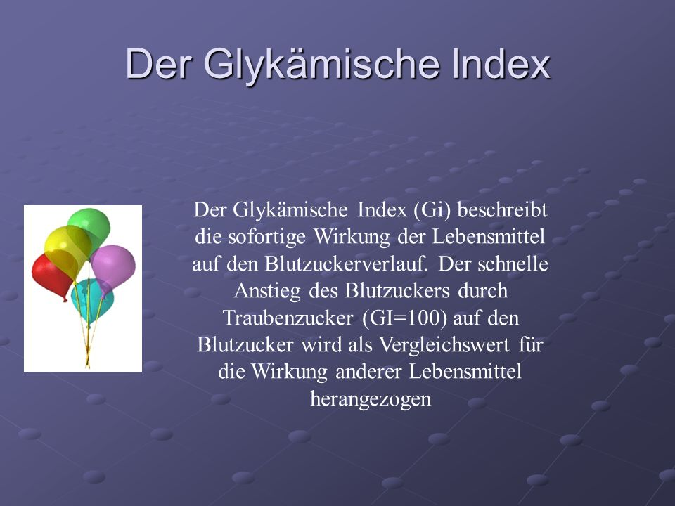 Der Glykämische Index