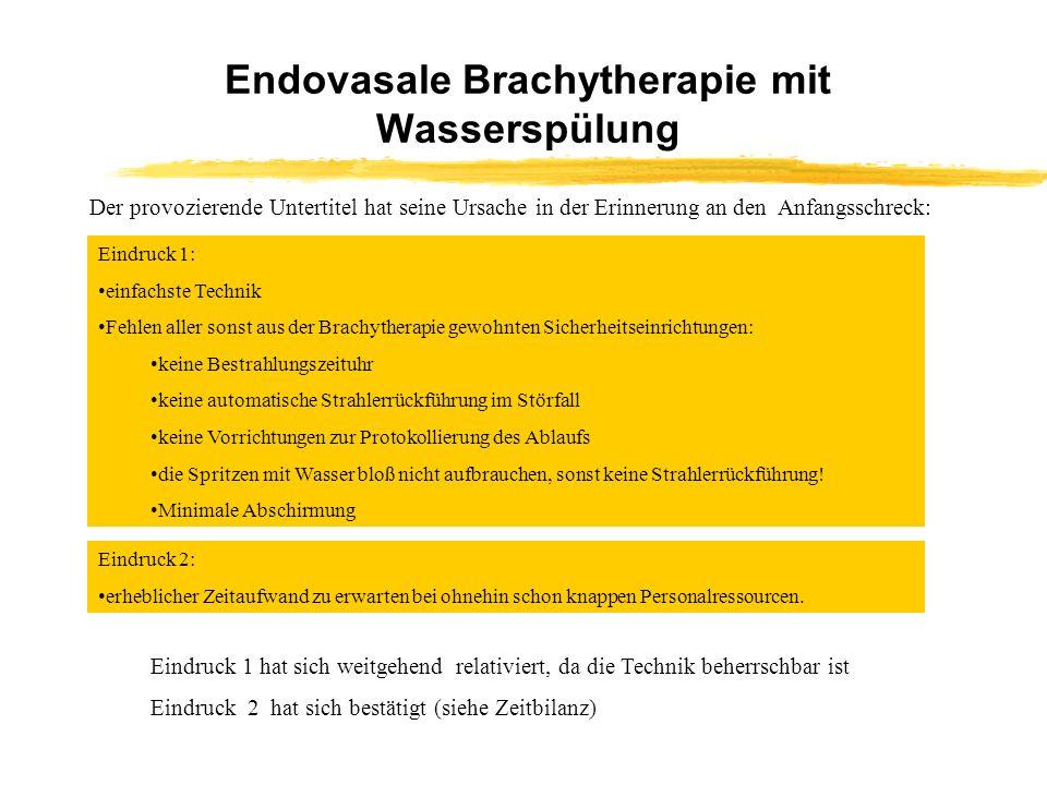 Endovasale Brachytherapie mit Wasserspülung