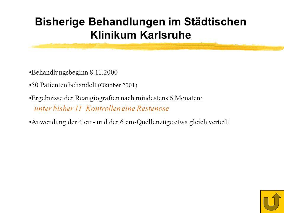 Bisherige Behandlungen im Städtischen Klinikum Karlsruhe