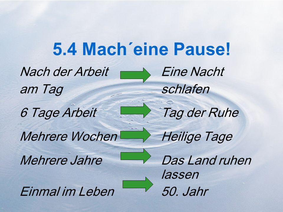 5.4 Mach´eine Pause!