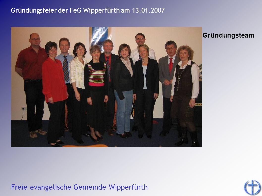 Gründungsfeier der FeG Wipperfürth am 13.01.2007