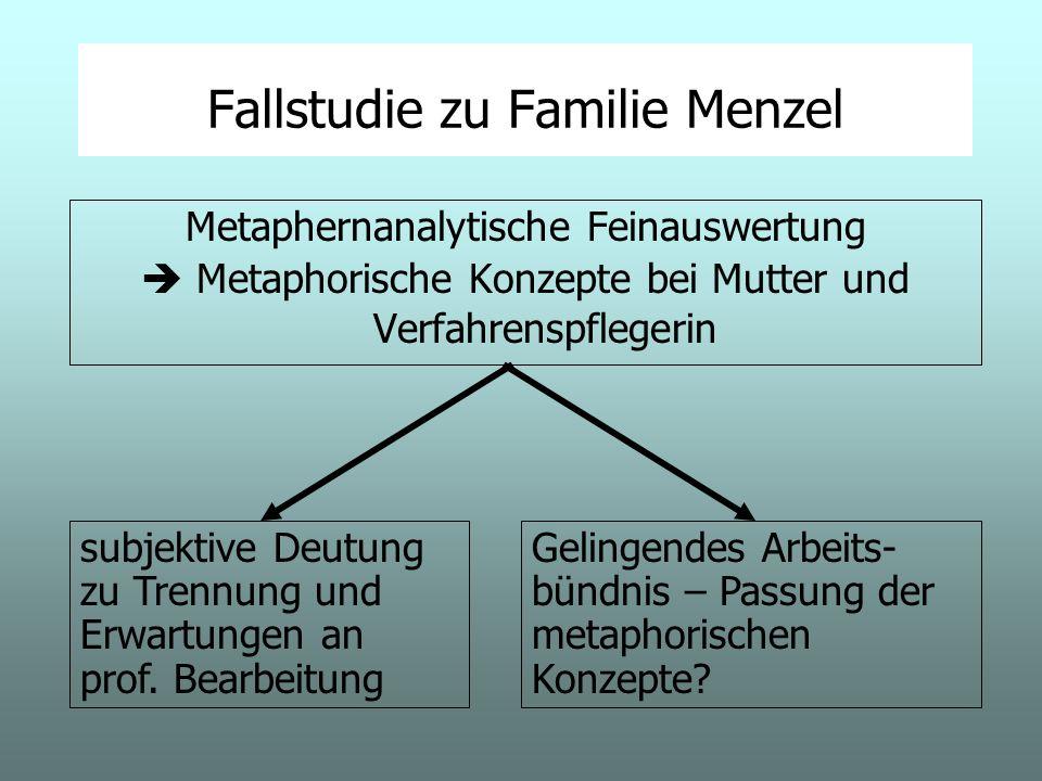 Fallstudie zu Familie Menzel