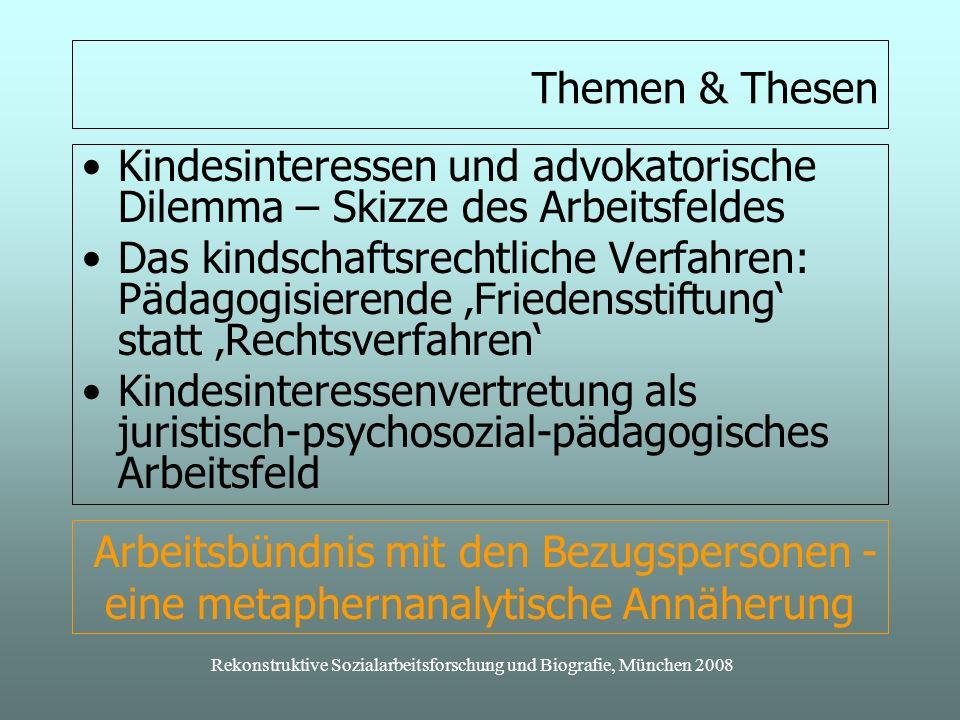 Rekonstruktive Sozialarbeitsforschung und Biografie, München 2008