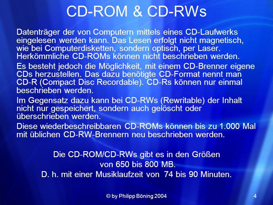 CD-ROM & CD-RWs