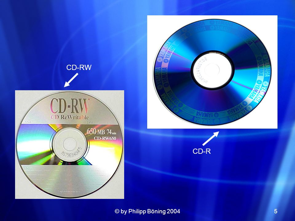 CD-R CD-RW © by Philipp Böning 2004