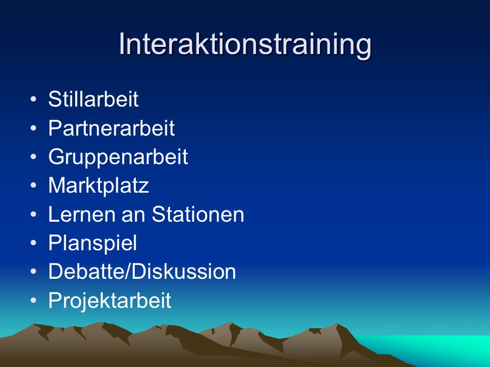 Interaktionstraining