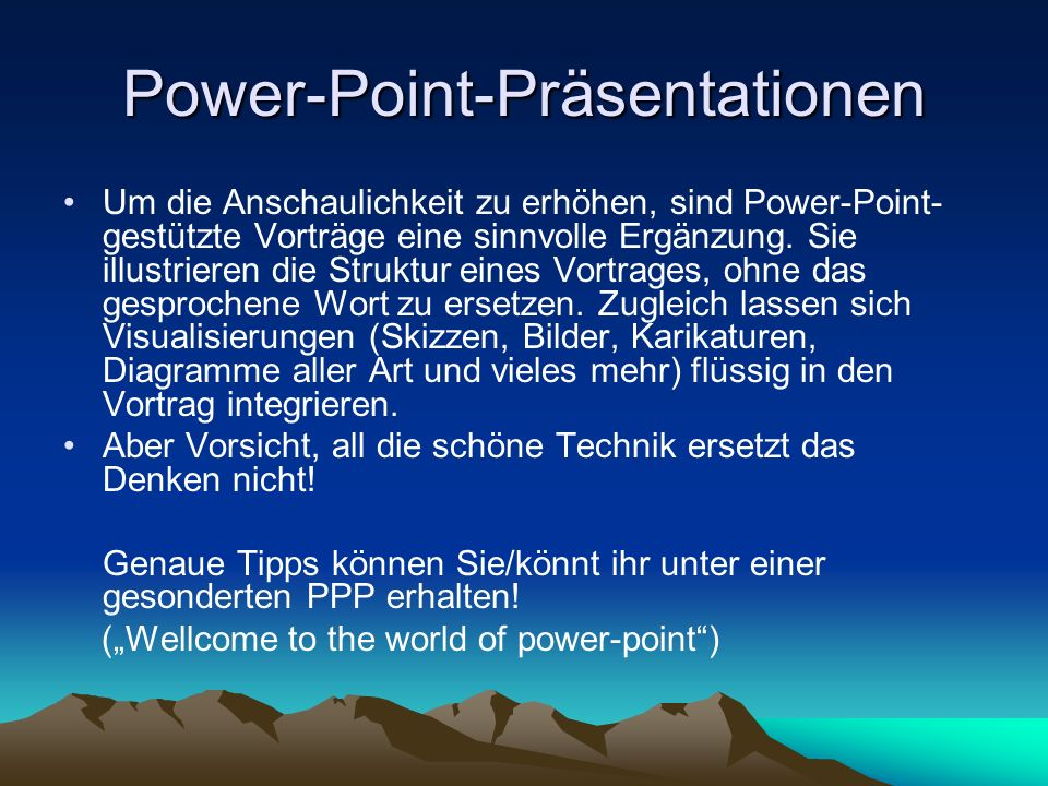 Power-Point-Präsentationen