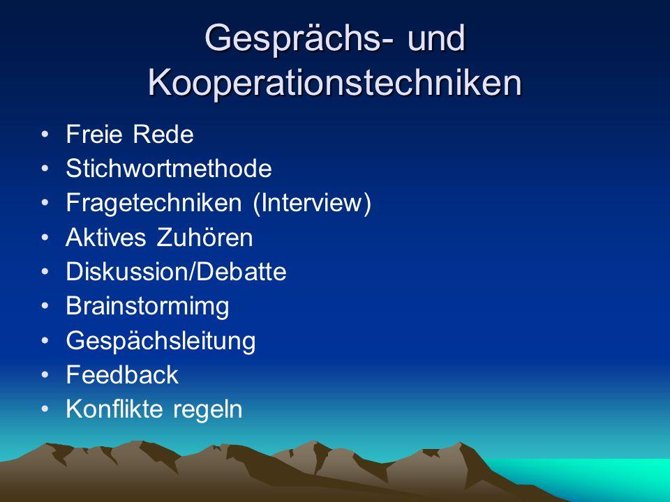 Gesprächs- und Kooperationstechniken